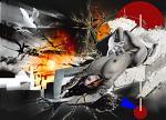 Discarica - stampa retro plexi - Ezio Ranaldi - Olio - 500€