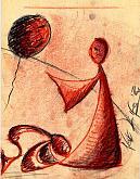 amore servile -sanguigna- - daniele rallo - sanguigna su carta - 50€