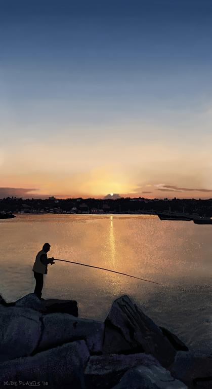 Pescatore giuliese - Michele De Flaviis - Digital Art