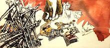 Senza titolo 30 - Lucio Forte - Acrilico, acquerello e china su tela