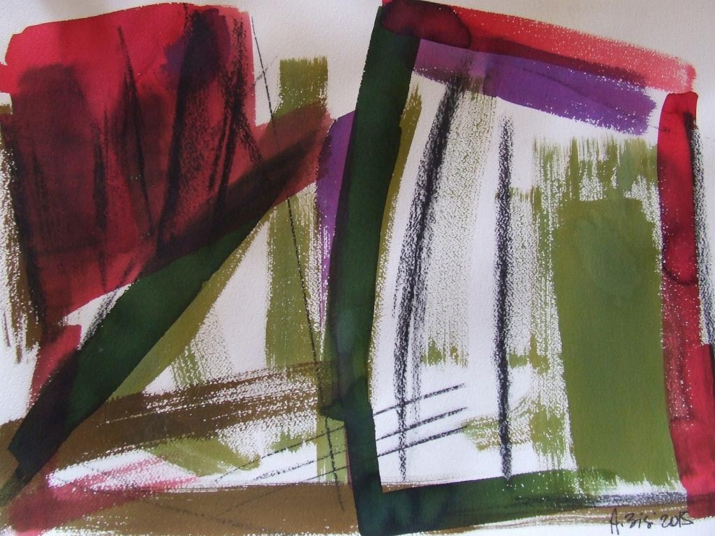 Verde - Alessandra Bisi - pigmenti su carta - 1100 €