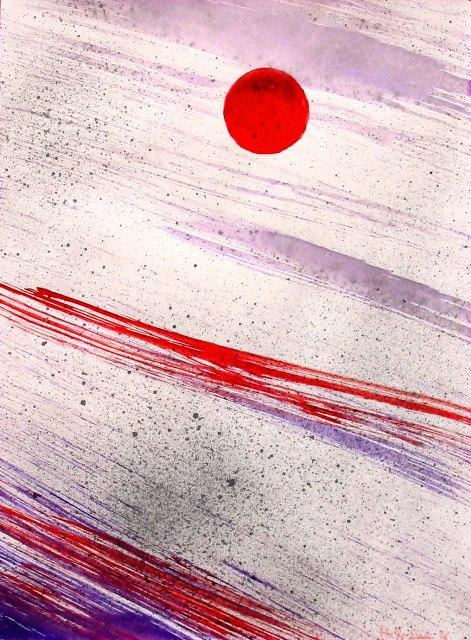 satellite rosso - daniele rallo - mistasu cartoncino - 150 €