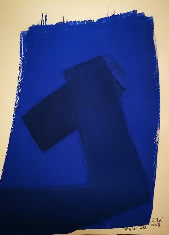 Rigel blu - Alessandra Bisi - pigmento su carta - 130 €