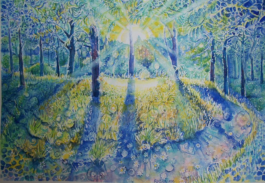 Il bosco magico - Ruzanna Scaglione Khalatyan - Acquerello - 170 €