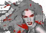 Ritratto alla sigaretta-stampa su tela retouchè - Ezio Ranaldi - tecnica mista - 500€