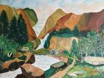 Paesaggio di Montagne - sergio scilironi - Olio - 230 €