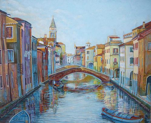 Chioggia  - Ruzanna Scaglione Khalatyan - Acrilico