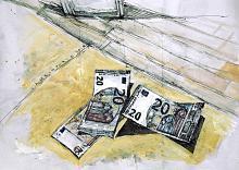 Senza titolo 31 - Lucio Forte - Acrilico, acquerello e china su carta