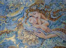Dono della Natura - Ruzanna Scaglione Khalatyan - pastelli acquerellabili, penne, colori acrilici, pennarelli