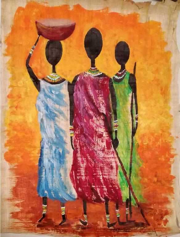 Afro nel cuore - Carla Colombo - Acrilico