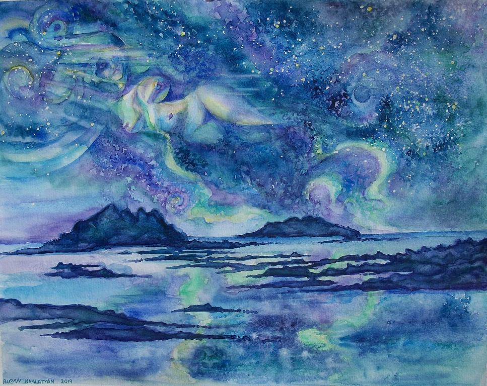 Aurora allegoria  - Ruzanna Scaglione Khalatyan - Acquerello