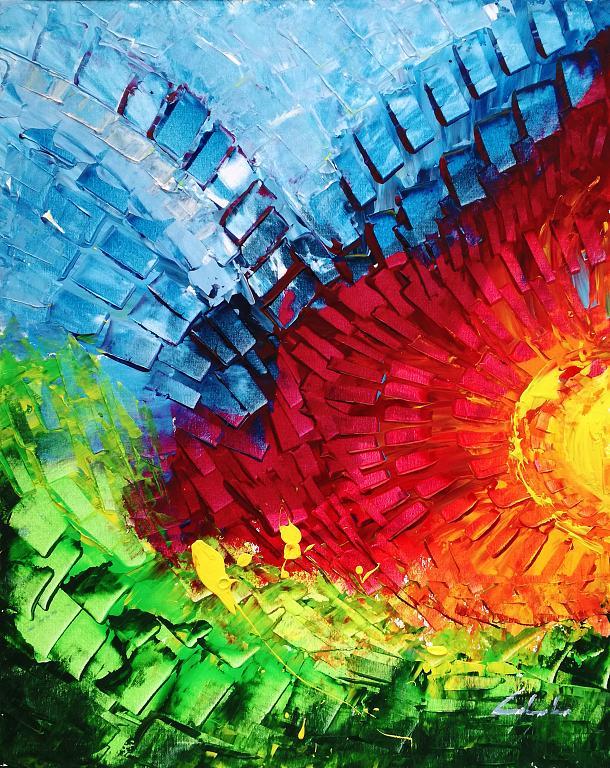 A volte le parole non bastano, ed allora servono i colori  - Carla Colombo - Acrilico
