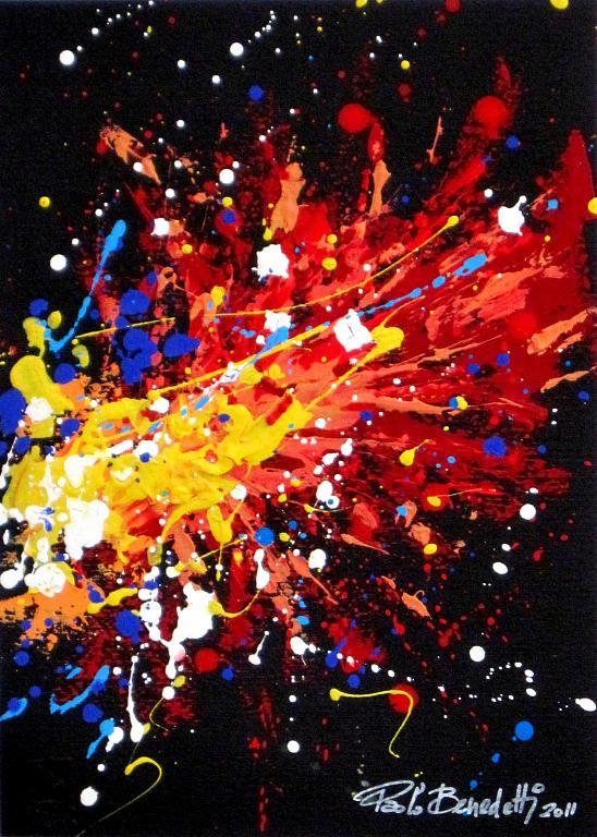 esplosione cromatica - Paolo Benedetti - Acrilico - 60 €