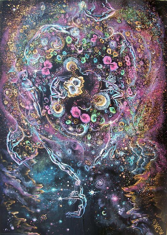 Noi siamo UNIVERSO - Ruzanna Scaglione Khalatyan - Acrilico