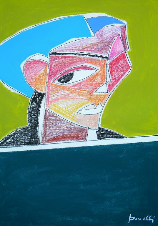Ritratto di ragazza - Gabriele Donelli - Pastello e acrilico - 300 €