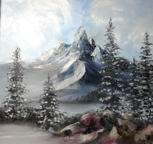 Nevica - anna casu - Olio