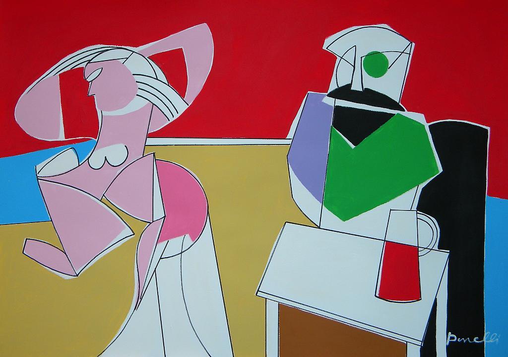 Il pittore e la modella - Gabriele Donelli - Acrilico - 400 €