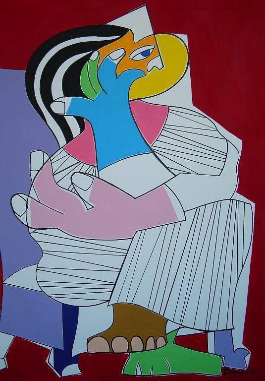 Donna seduta - Gabriele Donelli - Acrilico - 600 €