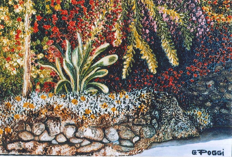 Particolare di un giardino di Arma di Taggia - Gabriella Poggi - Olio