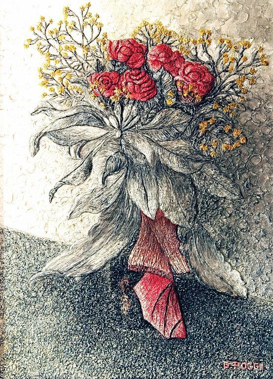 Rose rosse - Gabriella Poggi - Olio