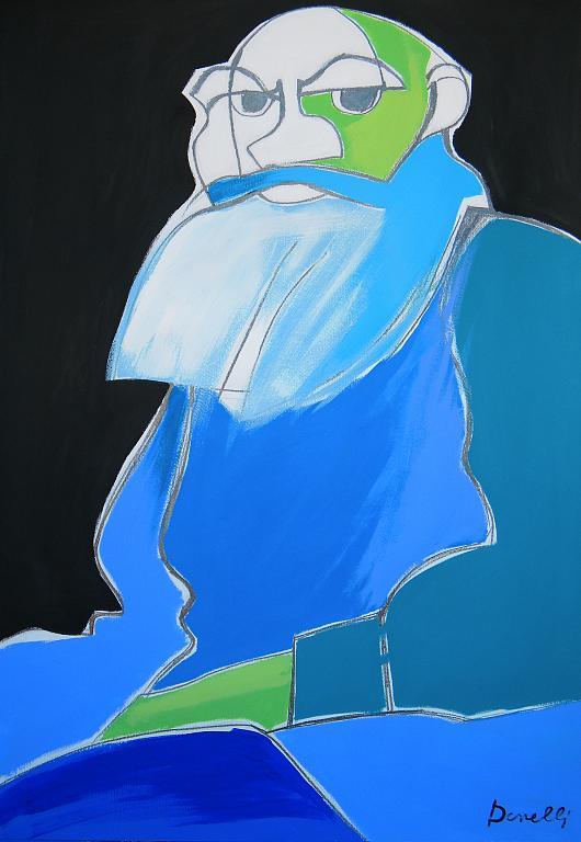 Ritratto di Lev Nikolaevic Tolstoj - Gabriele Donelli - Matita e acrilico - 1400 €