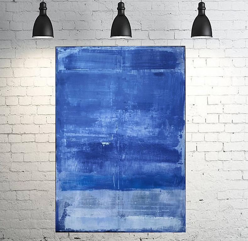 Minimal Blu-White - aliz polgar - Acrilico