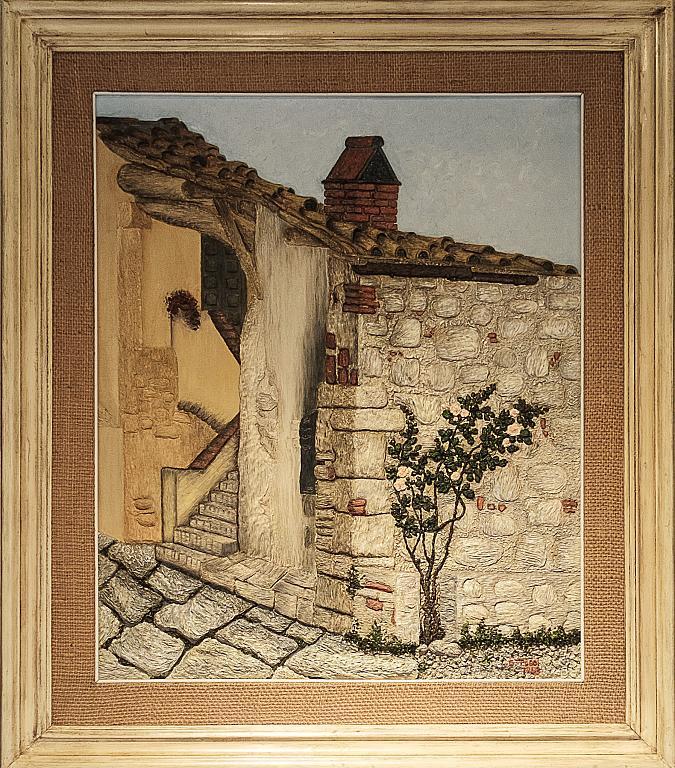 Casa colonica - Gabriella Poggi - Olio