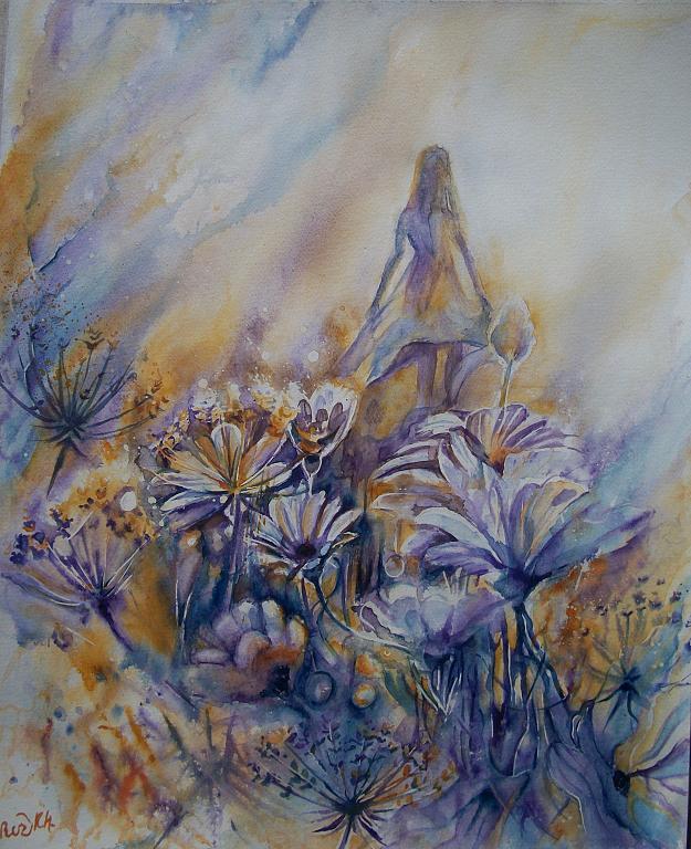 Campo dei fiori  - Ruzanna Scaglione Khalatyan - Acquerello