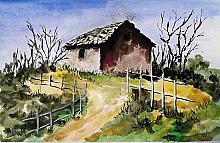 Casa campagna2 - anna casu - Acquerello - 300€