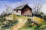 Casa campagna2 - anna casu - Acquerello