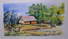 Casa campagna 3 - anna casu - Acquerello
