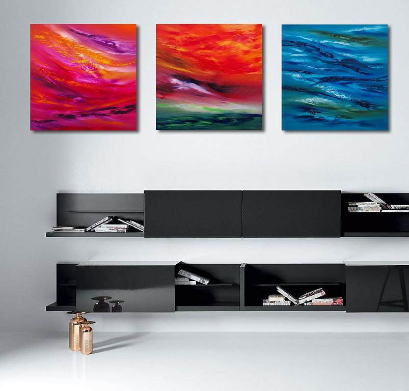Sky element, Triptych, n. 3 opere - Davide De Palma - Olio - 450 €