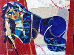 La topina blu - Caro Caro - Acrilico - 1500 €