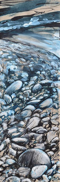 Adda River 2 - Lucio Forte - China e acrilico su tela -  €