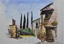 Castello di Montignano 2 - anna casu - Acquerello