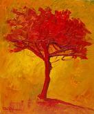 Albero rosso - Pietro Dell Aversana - Olio - 85€