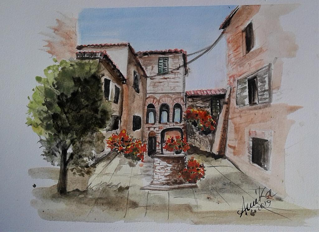 Montignano 4 - anna casu - Acquerello