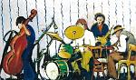 Jazz band - mario fanconi - Olio