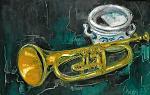 Tromba e vaso - mario fanconi - Olio