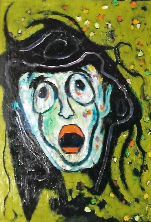 Maschera - mario fanconi - Olio