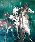 Cavalli - mario fanconi - Olio