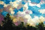 Nuvole - mario fanconi - Olio