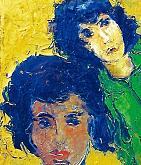 Due sorelle - mario fanconi - Olio