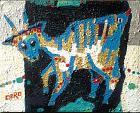 La capra azzurra - Caro Caro - Acrilico - 900 €