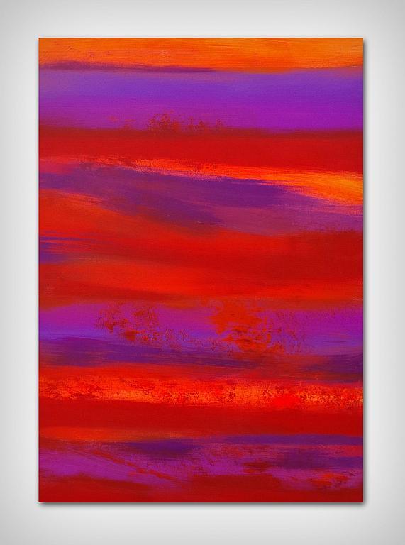 Waste not, want not, orange, 70x100 cm - Davide De Palma - Acrilico - 300 €