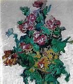 Fantastici fiori - mario fanconi - Olio