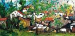 Origlio villaggio - mario fanconi - Olio