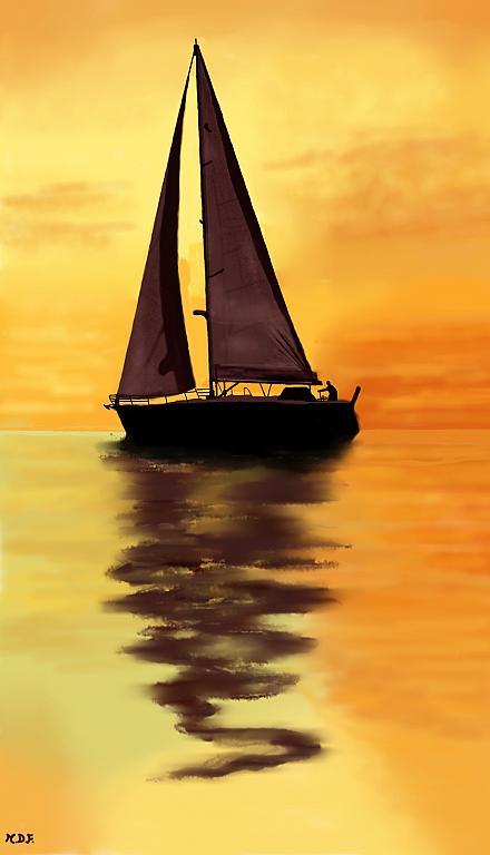 Navigatore solitario - Michele De Flaviis - Digital Art
