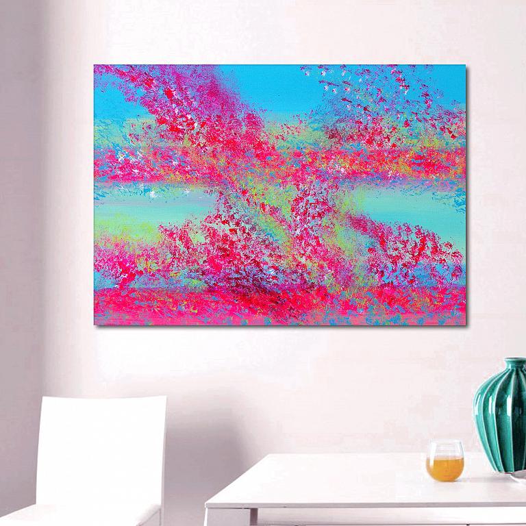 Spring colors,100x70 cm - Davide De Palma - Acrilico -  €