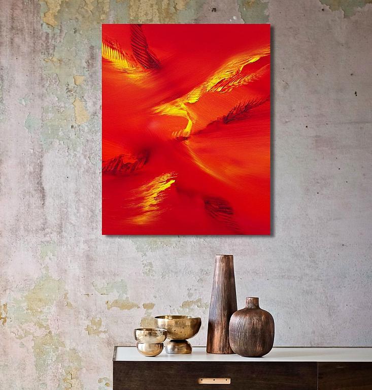 Bird flying, 40x50 cm - Davide De Palma - Olio - 120 €